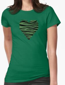 0258 Fern Green Tiger Womens Fitted T-Shirt