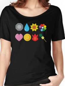 Kanto Gym Badges Women's Relaxed Fit T-Shirt