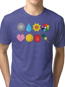 Kanto Gym Badges Tri-blend T-Shirt