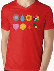 Kanto Gym Badges Mens V-Neck T-Shirt
