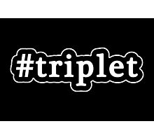 Triplet - Hashtag - Black & White Photographic Print