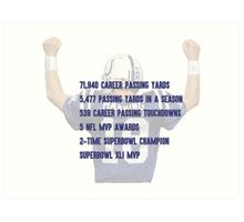 Peyton Manning Statistics Retirement Colts Art Print