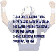 Peyton Manning Statistics Retirement Colts Photographic Print