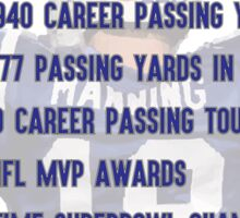 Peyton Manning Statistics Retirement Colts Sticker