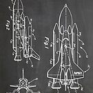 NASA Space Shuttle Invention Patent Art, Blackboard by Steve Chambers