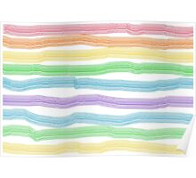 Colourful Stripe Collection Poster