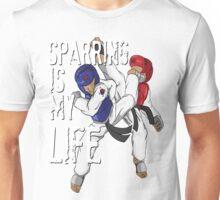 Taekwondo Sparring Is My Life Black Belt MMA Tae Kwon Do Karate Martial Arts Vintage Burnout Graphic Distressed Unisex T-Shirt