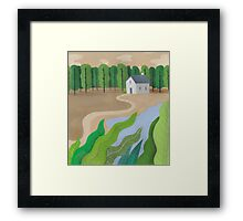 Beside the lake Framed Print