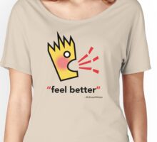 Croakey signature graphic - feel better Women's Relaxed Fit T-Shirt