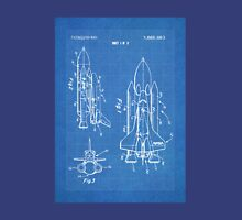 NASA Space Shuttle Invention Patent Art, Blueprint Unisex T-Shirt