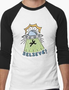Abduction Believe Men's Baseball ¾ T-Shirt