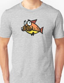 Mustache Fish Unisex T-Shirt
