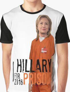 Funny Hillary For Prison '16 Democrat OITNB Orange Is The New Black Netflix Anti Hillary Clinton Piper Chapman Donald Trump Bernie Sanders Graphic T-Shirt