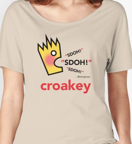 Croakey signature graphic - SDOH! Women's Relaxed Fit T-Shirt
