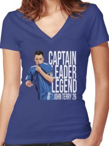 John Terry - Captain Leader Legend Women's Fitted V-Neck T-Shirt