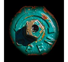 Round Rusty Object Photographic Print