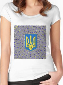 UKRAINE-3 Women's Fitted Scoop T-Shirt