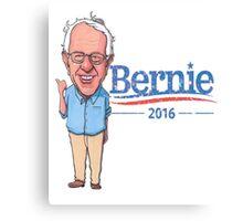 Bernie Sanders Cartoon Vintage Burnout Graphic Democratic Socialism Funny Feel The Bern Canvas Print