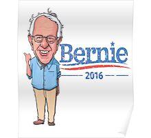 Bernie Sanders Cartoon Vintage Burnout Graphic Democratic Socialism Funny Feel The Bern Poster