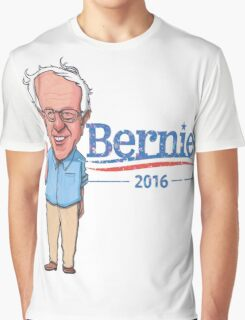 Bernie Sanders Cartoon Vintage Burnout Graphic Democratic Socialism Funny Feel The Bern Graphic T-Shirt