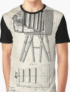 1885 Camera Invention Patent Art Graphic T-Shirt