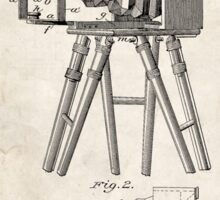 1885 Camera Invention Patent Art Sticker