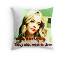Alison quote Throw Pillow