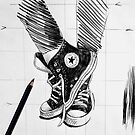 sketch for ink drawing by Loui  Jover