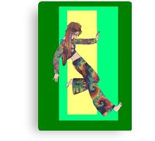 Sixties Collage Girl Canvas Print
