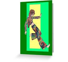 Sixties Collage Girl Greeting Card