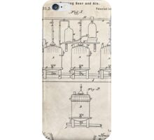 1873 Beer Brewing Invention Patent Art iPhone Case/Skin