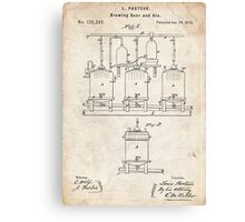 1873 Beer Brewing Invention Patent Art Canvas Print