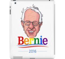 Bernie Sanders Gay Pride LGBTQ Presidential Race '16 Cartoon Feel The Bern Democrat Rainbow iPad Case/Skin
