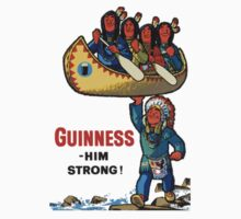 GUINNESS HIM STRONG VINTAGE ART Baby Tee