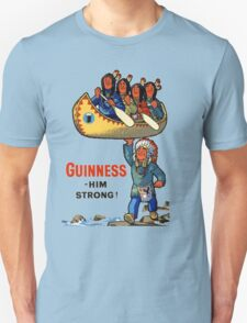 GUINNESS HIM STRONG VINTAGE ART Unisex T-Shirt