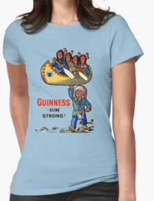 GUINNESS HIM STRONG VINTAGE ART Womens Fitted T-Shirt