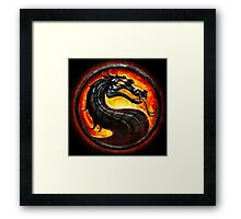 HOT & NEW! Mortal Kombat Fire Dragon Game Gamer Gaming Anime Cosplay Gift Framed Print