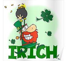 St. Pat's Day Leprechaun Irich Irish Poster