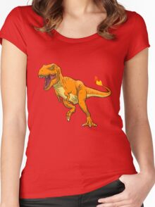 Charmander T-Rex Women's Fitted Scoop T-Shirt