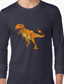Charmander T-Rex Long Sleeve T-Shirt