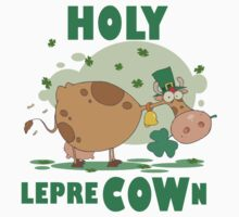 Irish St. Patrick's Day Funny Cow  One Piece - Long Sleeve