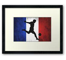 French Soccer Framed Print