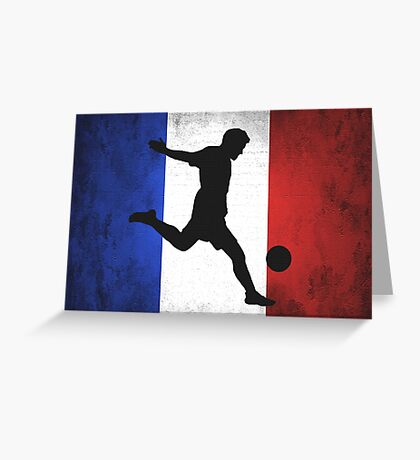 French Soccer Greeting Card