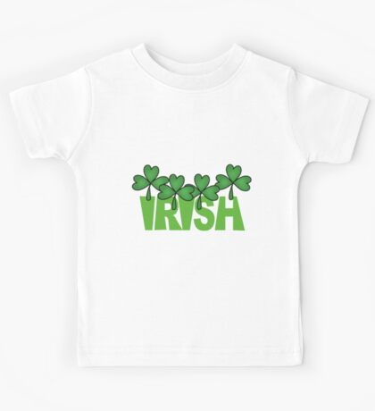 St. Pat's Day Irish With Shamrocks Kids Tee