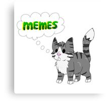 Henry the Meme Cat Canvas Print