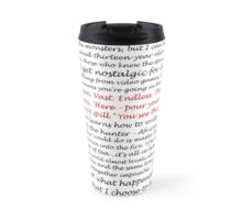Inspirational Quotes - Black White and Red Travel Mug