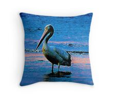 Pelican Sunrise Throw Pillow