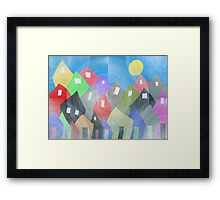 Whimsical Town Framed Print