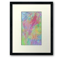 Colorful Rainbow Watercolor Art Gift (4) Framed Print