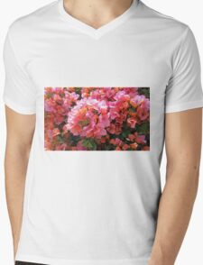 BOUGAINVILLEA BUSH Mens V-Neck T-Shirt